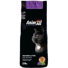 AnimAll древесный наполнитель для котов, с ароматом лаванды