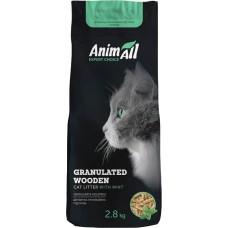 AnimAll древесный наполнитель для котов, с ароматом мяты