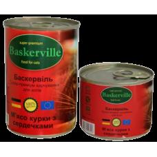 Baskerville для кошек (мясо курицы и сердечки)