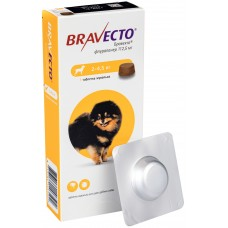 Bravecto Бравекто жевательная таблетка от блох и клещей для собак весом 2 - 4,5 кг