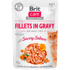 Brit Care Cat Fillets (филе лосося в соусе)