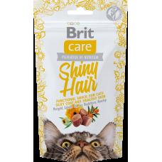 Brit Care Functional Snack Shiny Hair Лакомство для блестящей шерсти котов