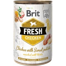 Brit Fresh Adult with Chicken and Sweet Potato (курица и батат)