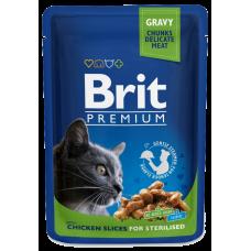 Brit Premium Курица в соусе для стерилизованных кошек