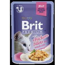 Brit Premium Куриное филе в желе для кошек