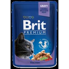 Brit Premium Треска в соусе для кошек