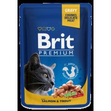 Brit Premium Лосось и форель в соусе для кошек