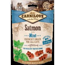 Carnilove Cat Crunchy Snack Лакомство для зубов (лосось и мята)