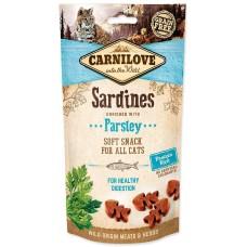 Carnilove Cat Soft Snack Лакомство для чувствительного пищеварения (сардина и петрушка)
