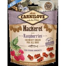 Carnilove Dog Crunchy Snack Лакомство для иммунитета (скумбрия и малина)