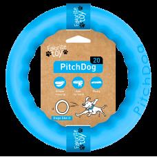 PitchDog Кольцо игрушка для собак, голубой