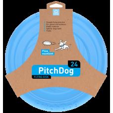 PitchDog Летающий диск для собак, голубой
