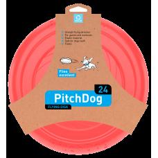 PitchDog Летающий диск для собак, розовый