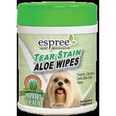 Espree Aloe Tear Stain Wipes Салфетки для очищения загрязнений под глазами
