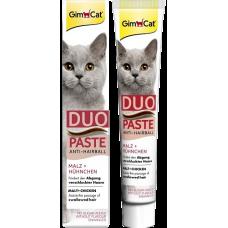 GimCat Duo-Paste Anti-Hairball - паста для выведения шерсти из желудка кошек, с курицей