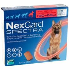 NexGard Spectra жевательная таблетка от блох, клещей и гельминтов для собак весом 30-60 кг