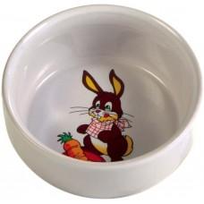 Trixie Миска керамическая для кролика, 0,3 л/11 см