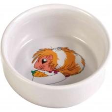 Trixie Миска керамическая для морской свинки, 0,3 л/11 см